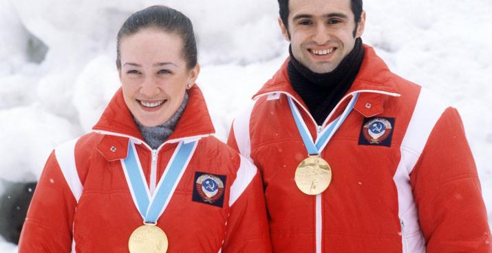 Lake Placid. USA. The 13th Winter Olympics. Natalia Linichuk and Gennady Karponosov, Soviet ice dancers and gold-medal winners of the 13th Winter Olympics, performing. Photo TASS / Alexander Yakovlev  ÑØÀ. Ëåéê-Ïëýñèä. XIII çèìíèå Îëèìïèéñêèå èãðû. Íà ñíèìêå: ÷åìïèîíû Áåëîé Îëèìïèàäû â ïàðíîì êàòàíèè ôèãóðèñòû Íàòàëüÿ Ëèíè÷óê è Ãåííàäèé Êàðïîíîñîâ. Ôîòî Àëåêñàíäðà ßêîâëåâà /Ôîòîõðîíèêà ÒÀÑÑ/
