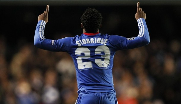 Daniel Sturridge of Chelsea celebrates scoring against MSK Zilina during their Champions League Group F soccer match at Stamford Bridge in London